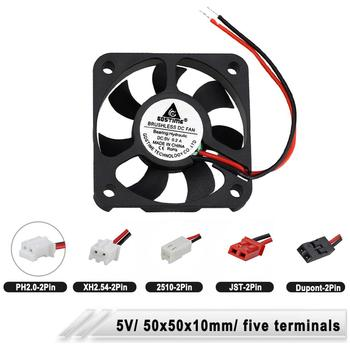 5PCS 5010 50*10MM 5V Cooling Fan 2Pin JST Dupont Connector 5cm 50mm Computer Industrial Cooler Fans 50x50x10mm High Speed