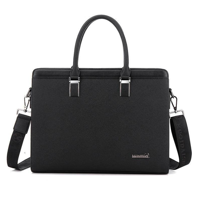 Mens Handbag Shoulder Bags Laptop Briefcase Bags High quality Men Handbags pu Leather Men Large capacity zipper handbag
