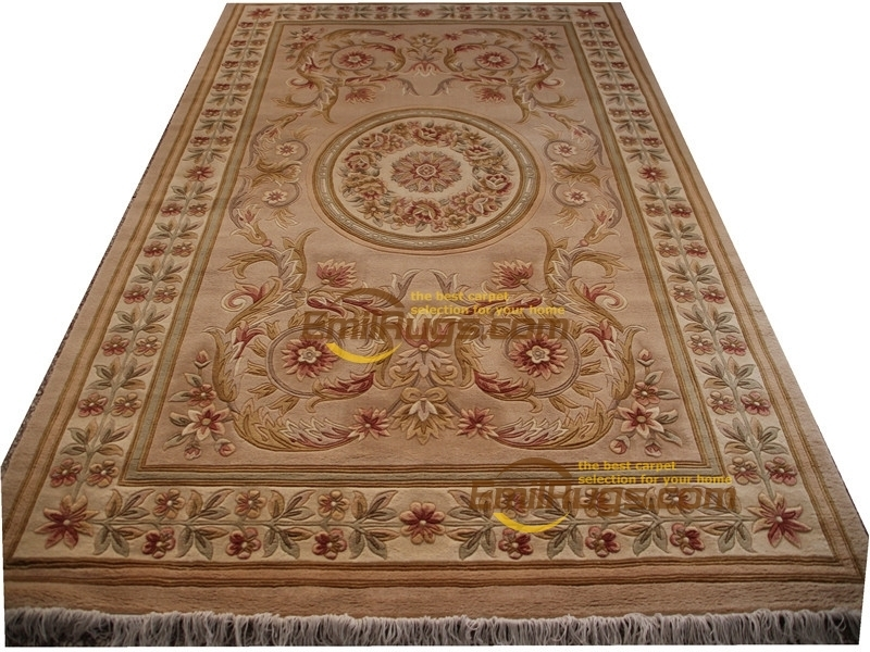 Carpet Rose Wool French Carpet  About Hand-knotted Thick Plush Savonnerie Rug  6.4' X 9.51' 1012h 129