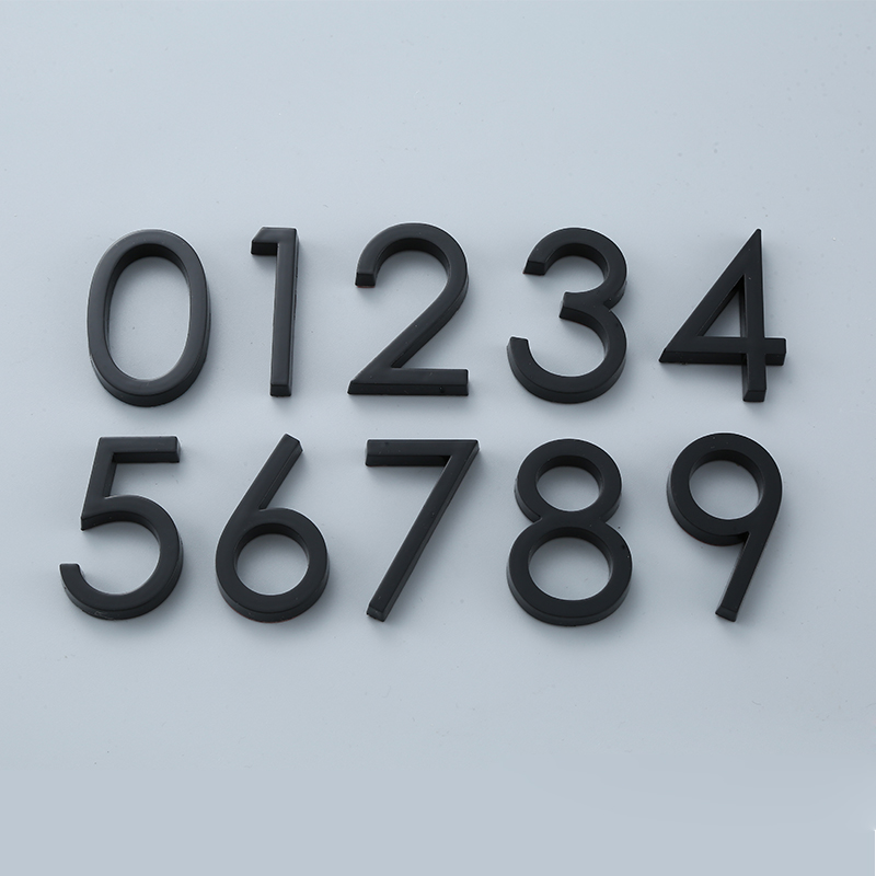 Black Door Number Stickers Self Adhesive House Number Door Plaque Sign for Apartment Hotel Office Door Address Room Number(China)