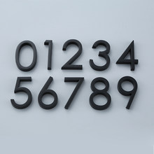 Czarny samoprzylepny numer domu naklejki drzwi tablica znak dla mieszkania pokój hotelowy tabliczka na drzwi adres skrzynki pocztowej