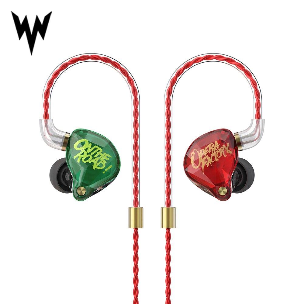 Opera Factory OM1 3.5mm Wired Earphone Super Stereo Sound Headphones Earplug In Ear Earphone 2Pin HIFI Custom Audio Diamond Bass