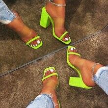 Summer Women Pumps Fashion High Heels Transparent Women Heel