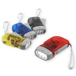 3 LED Dynamo Wind Up Flashlight Torch Light Hand Press Multicolor Useful