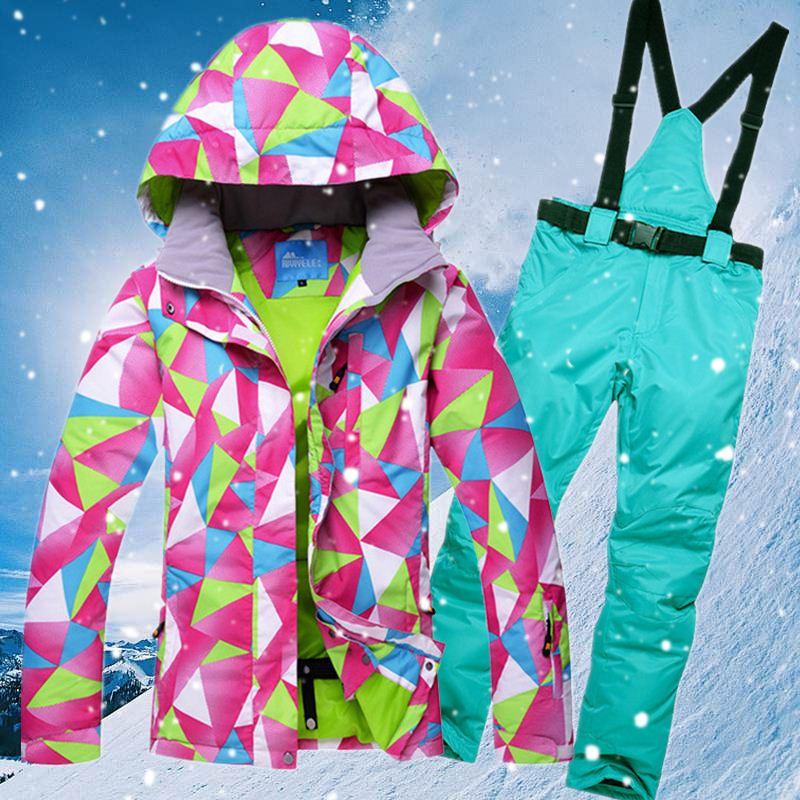 Winter Ski Suit Women Windproof Waterpoor Outdoor Sport Snow Coat And Snowborad Pants Set Female Thermal Skiing Jacket Cyf284