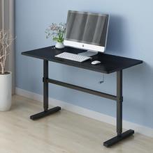Standing Office Desk Table Manual Lift Adjustable Ergonomic Simple Office Computer Desk Stable Table 100*60cm Support 160kg