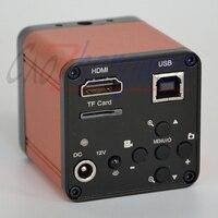 FYSCOPE 16MP 1080P 60FPS HDMI Digital Microscope Camera USB FHD Lab Industrial C mount Microscope TF Card Digital 8G SD CARD