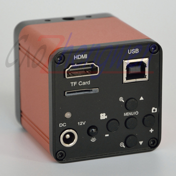 FYSCOPE 16MP 1080P 60FPS HDMI cyfrowy mikroskop z aparatem USB FHD Lab przemysłowy c-mount mikroskop TF karta cyfrowa kamera wideo tanie i dobre opinie caozhengwen 1500X-3000X HDMI1660 Metal Mikroskop stereoskopowy Trinocular FULL HD Video Microscope Standard usb2 0