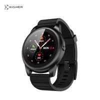 Xigmer Lunar X01 Smart Uhr Volle Touchscreen Sport Metall Herz Rate Schlaf Monitor IP68 Wasserdichte iOS Android Globale Version