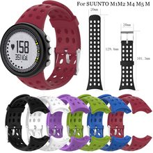 Optional Silicone sport Replacement Wrist Band Bracelet Strap for SUUNTO M1 M2 M4 M5 M Series Watch Wristband Male Man free delivery replacement sport band for suunto core rubber soft watch strap tpu wristband