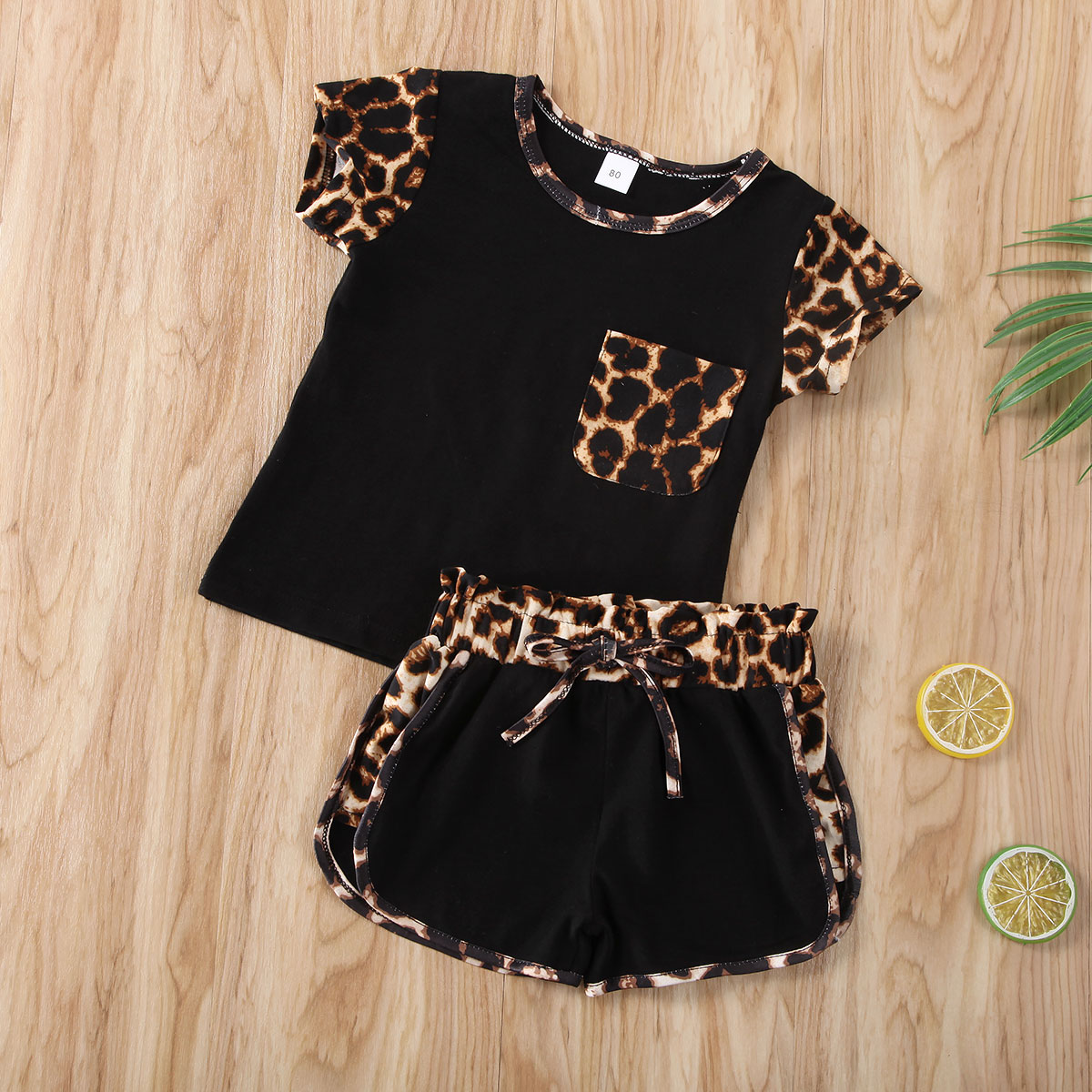 Pudcoco Newest Fashion Newborn Baby Girl Clothes Leopard Short Sleeve T-Shirt Tops Short Pants 2Pcs Outfits Cotton Clothes