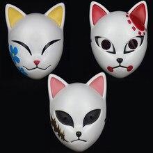 Japanese Anime Demon Slayer Mask Kimetsu No Yaiba Cosplay Sabito Kamado Tanjirou Makomo ABS Masks Halloween Party Costume Props