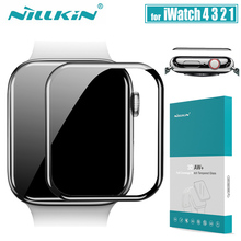 for iWatch Series 6 5 4 3 2 Glass Screen Protector Nillkin 3D AW+ Full Cover Safety Tempered Glass for Apple Watch 38/40/42/44MM