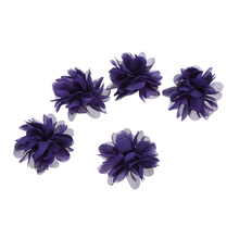 100pcs/lot 2.8 20Colors DIY Polyester Fluffy Ballerina Chiffon Flowers Flat Back Hair Accessory Baby Headband Ornament