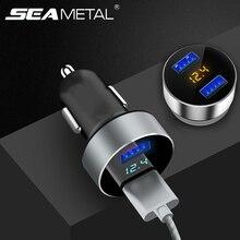 Светодиодный Дисплей автомобильный прикуриватель USB 12V 24V автомобиль Зарядное устройство разветвитель на две зарядки телефона авто Универсальный электронные аксессуары