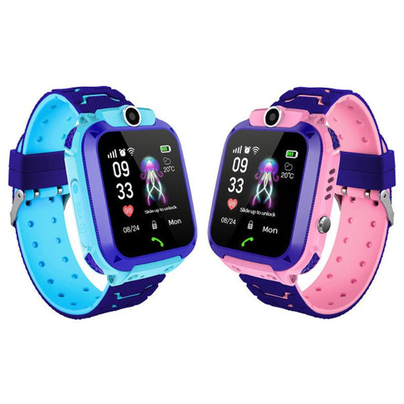 Children Smart Watch With GPS GSM Locator Multi-function Touch Screen Tracker SOS For Kids