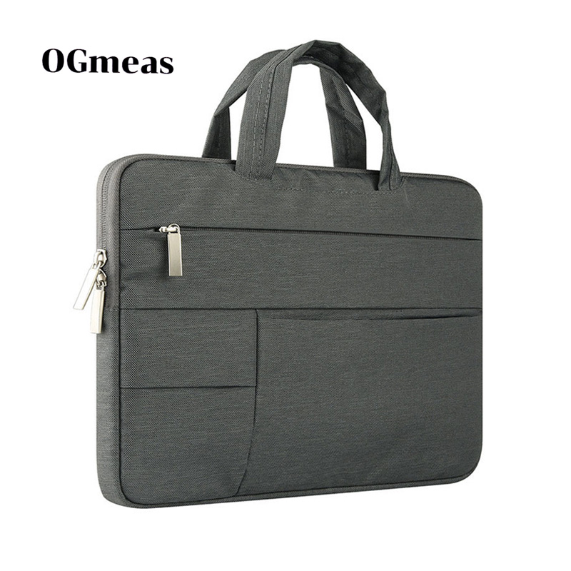 Image 4 - OGmeas Laptop Sleeve Bag for Macbook Air 13 Case Nylon Laptop Case 15.6 11 14 15 inch Bags for Men Women  Zipper Unisex Backpack-in Laptop Bags & Cases from Computer & Office