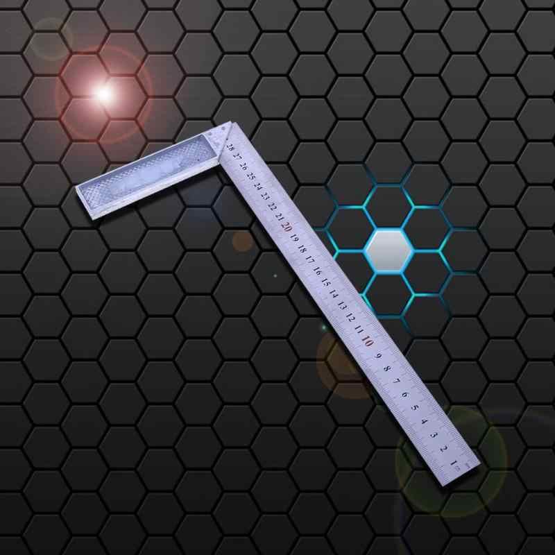 30 سنتيمتر/1 مللي متر 90 درجة المعادن الصلب محاولة مربع المهندسين الخشب أداة قياس حاكم الزاوية اليمنى عالية الجودة محاولة مربع أداة قياس
