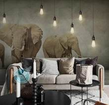 Custom Photo Wallpaper Elephant For Living Room Bedroom Wallpaper Roll Papel Parede 3d Decorative Wall Painting(China)