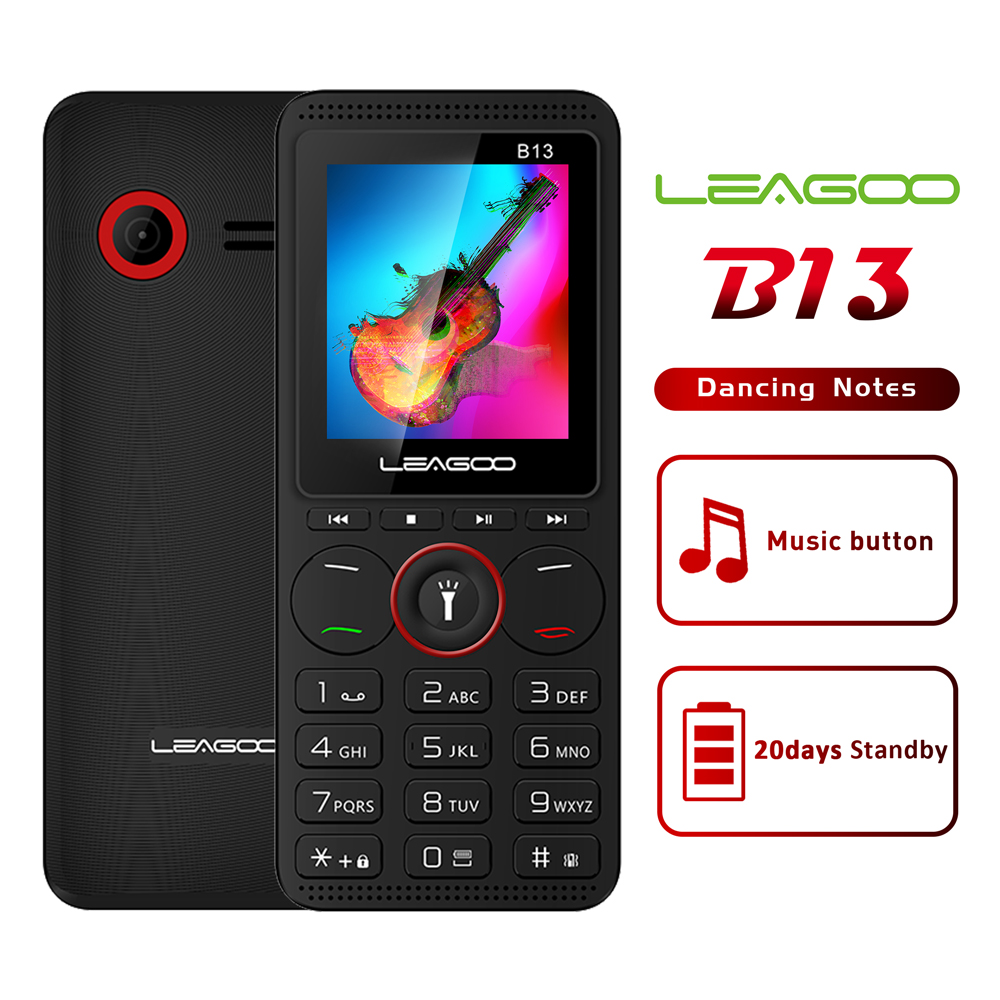 LEAGOO B13 Russian Keypad Feature Mobile Phone Senior Kids Mini Phone 2G GSM Push Button Key Cellphone