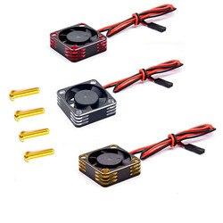 5V-7,4 V Metall Lüfter für 550 540 Bürstenlosen Motor ESC RC Auto High-speed Wärme ableitung Kühler Fan Upgrade Teile