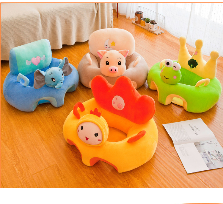 Baby Sofa Chair Support Seat Baby Plush Support Chair Learning To Sit Soft Comfortable Toys Travel Car Seat