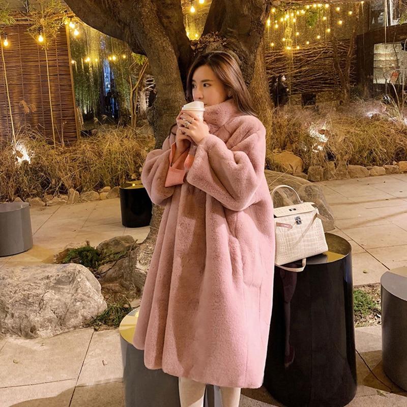Winter Warm Women Fashion Fur Cardigan Loose Outwear Long Jacket Coat Oversized