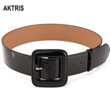 купить AKTRIS Ladies Fashion Quality Split Cow Genuine Leather Retro Buckles Metal Belts for Ladies Belt Women 4.7cm Wide FCO183 онлайн