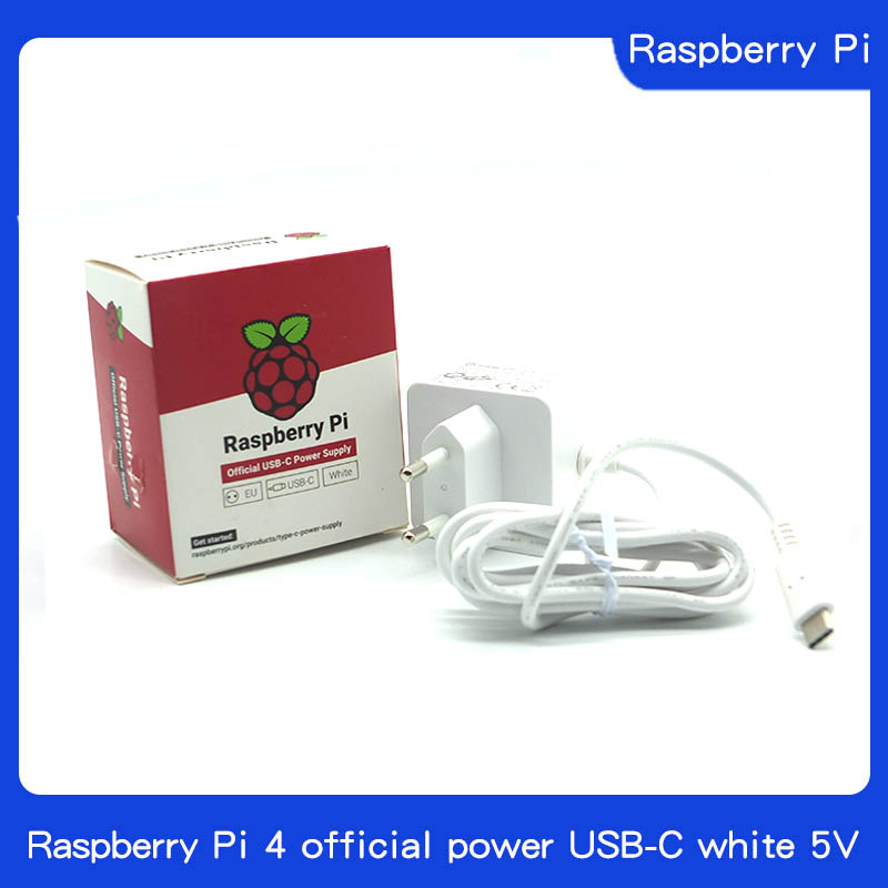 Original Raspberry Pi 4 Official USB-C Power Supply 5.1V 3A White Power Charger Power Adapter For Raspberry Pi 4 Model B