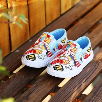 2020 New baby canvas shoes for boys girls print soft bottom children casual kids fashion sneakers toddler - discount item  32% OFF Children's Shoes