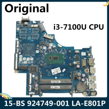 CPU Laptop Motherboard DDR4 LA-E801P I3-7100U for HP 15-BS La-e801p/924749-601/924749-501/924749-001