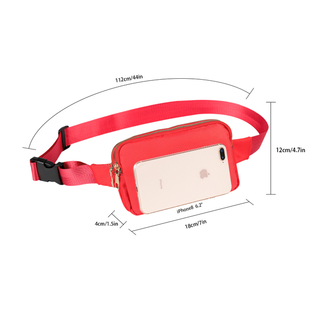 Buylor women's belt bags Fashion Waist Packs Designer Bum Bag Shoulder Chest Pack Waterproof Crossbody Bag Hip Phone Pouch 2