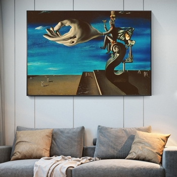 Surrealism Canvas Painting The Hand By Salvador Dali Famous Poster Print Wall Art Picture for Living Room Home Wall Decor Cuadro 3