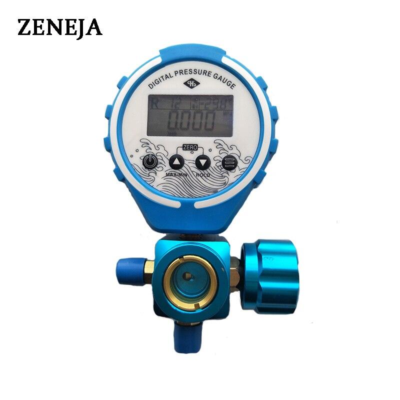 Pressure Gauge Manifold Refrigeration Digital Vacuum Pressure Tester Meter HVAC Temperature Tester Freon Pressure Digital