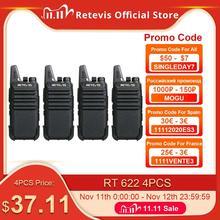 RETEVIS RT22 RT622 перезаряжаемая рация 4 шт. PMR Radio PMR446 VOX двухстороннее радио портативные рации для ресторана отеля