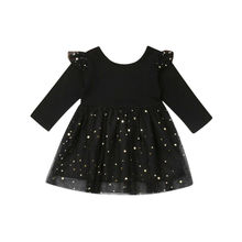 Baby Girls Tutu Dress Ruffle Long Sleeve Outfits 12-18M