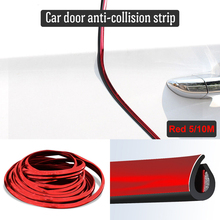 5M/10M Car Door Protector Anti-Collision Strip Red Edge Anti-Scratch Sticker chrome Trim Body Safety Seal Protection