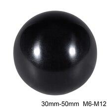 Uxcell 4 шт. отверждаемый материал сферическая ручка с M8/M10/M12 внутренняя резьба машины ручки 30/32/35/40/50 мм Диаметр гладкая оправа черного цвета