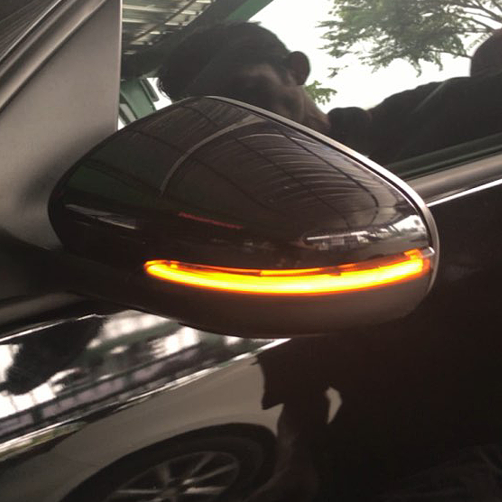 Dynamic LED Turn Signal for VW <font><b>Golf</b></font> MK6 GTI 6 R20 MKVI <font><b>R</b></font> line 2009 2010 <font><b>2011</b></font> 2012 side mirror light flasher image