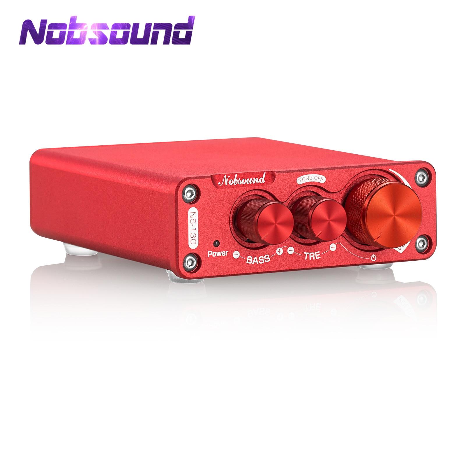 Nobsound мини TPA3116 цифровой Мощность усилитель класса D стерео Настольный аудио усилитель 100 Вт + 100 Вт для домашние стерео колонки