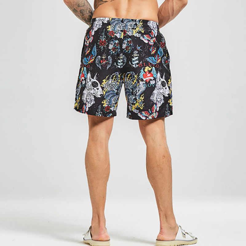Sommer Schwimmen Shorts für Männer Bademode Stamm Bermuda Surf Board Strand Shorts Badeanzug Mens Schwimmen Shorts Sunga Masculina