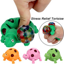 Spongieux perle arc-en-ciel balle jouets Squishies compressibles jouet soulagement du Stress tortue jouet anti-stress autisme main spinner anti estresse(China)