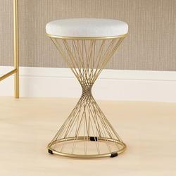 Okrągłe drewniane gwoździe okrągłe krzesło krzesło do jadalni okrągły stołek ze stali nierdzewnej czarny stołek high iron art economy| |   -