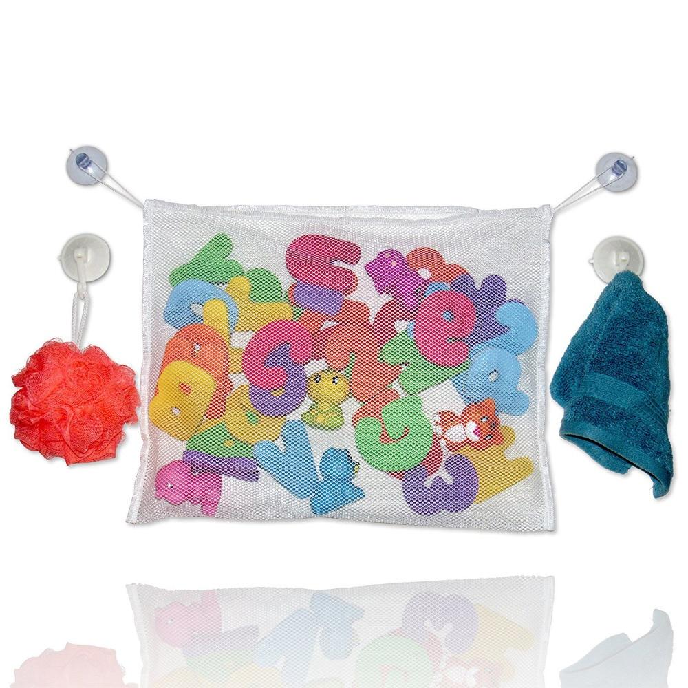 New Bath Toy Storage Net Bag Bathroom Tidy Organizer Baby Kids Shower Accessories High Quality Storage Bags GHMY