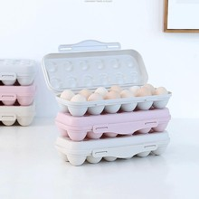 Refrigerator egg storage box 12/18 grid plastic container refrigerator large capacity egg tray egg storage box household storage недорого