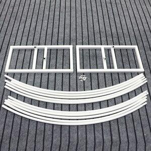 Image 4 - Jarown Mới Cưới Nhẫn Đôi Đơn Cực Vòm Tròn Trang Trí Đám Cưới Hoa Đứng Nhà Đảng Nền Kệ Trang Trí