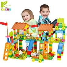 Big Size Bouwstenen Pretpark Diy Compatibel Duploed Baksteen Vergadering Bricks Bouw Gebouw Speelgoed Voor Kinderen