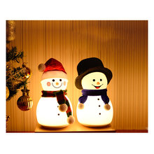 Ночник светильник светодиодный usb Перезаряжаемый Снеговик ночной