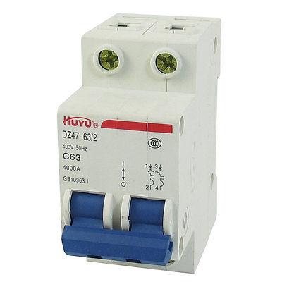 1 Pole 50A 230//400V Low-voltage Miniature Circuit Breaker DZ47-63 C50