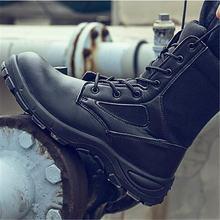 Рабочие ботинки мужские защитные со стальным носком военные